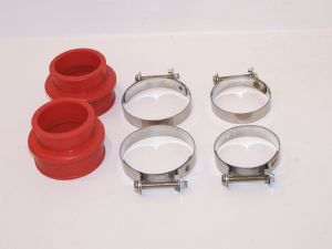 Manifold seals with original style clips Silicone VW Beetle and Type 2 twin port